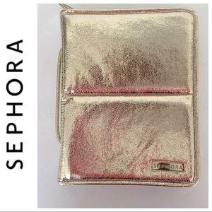 SEPHORA GOLD MAKE UP BRUSH CASE
